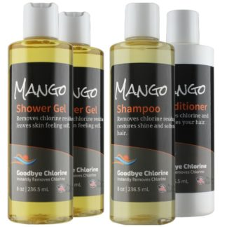 Anti-Chlorine shower Gel, Shampoo and Conditioner