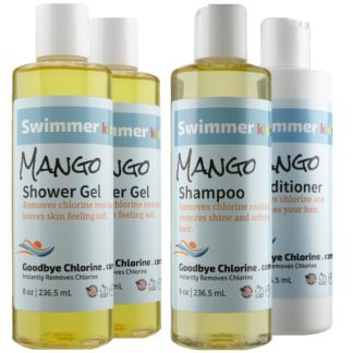 Anti-Chlorine Shampoo and Conditioner Instantly Removes Chlorine.