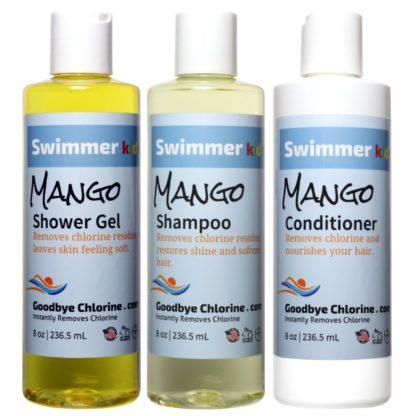 Anti-Chlorine Shower Gel, Shampoo and Conditioner