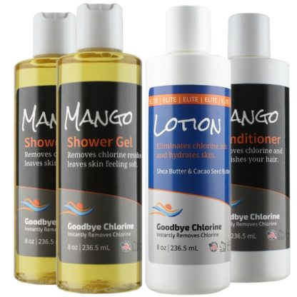 Anti-Chlorine Shower Gel, Lotion and Conditioner